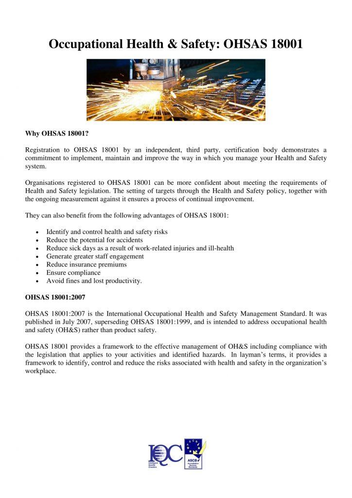OHSAS 18001-1